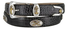 Bayside- Italian Calfskin Leather Designer Dress and Golf Belt For Men (ACHA,50) - $39.59