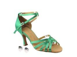"Very Fine Ladies Women Ballroom Dance Shoes EKSERA2613 Green Satin 2.5"" ... - $65.95"