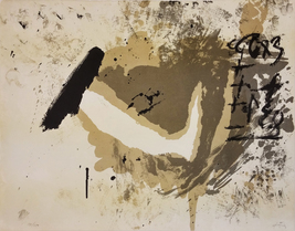 "Antoni Tapies ""Untitled"" 1970 - Signed Print - Abstract - See Live at Ga... - $2,800.00"