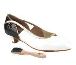 Very Fine Ladies Women Ballroom Dance Shoes EKCD5503Black Sparkle & Whit... - $79.95