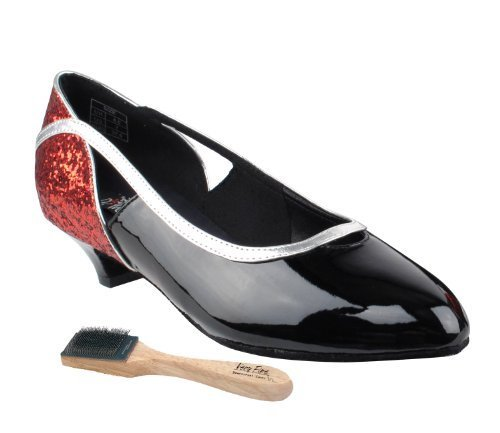 Very Fine Ladies Women Ballroom Dance Shoes EKCD5503Black Sparkle & White Pat...