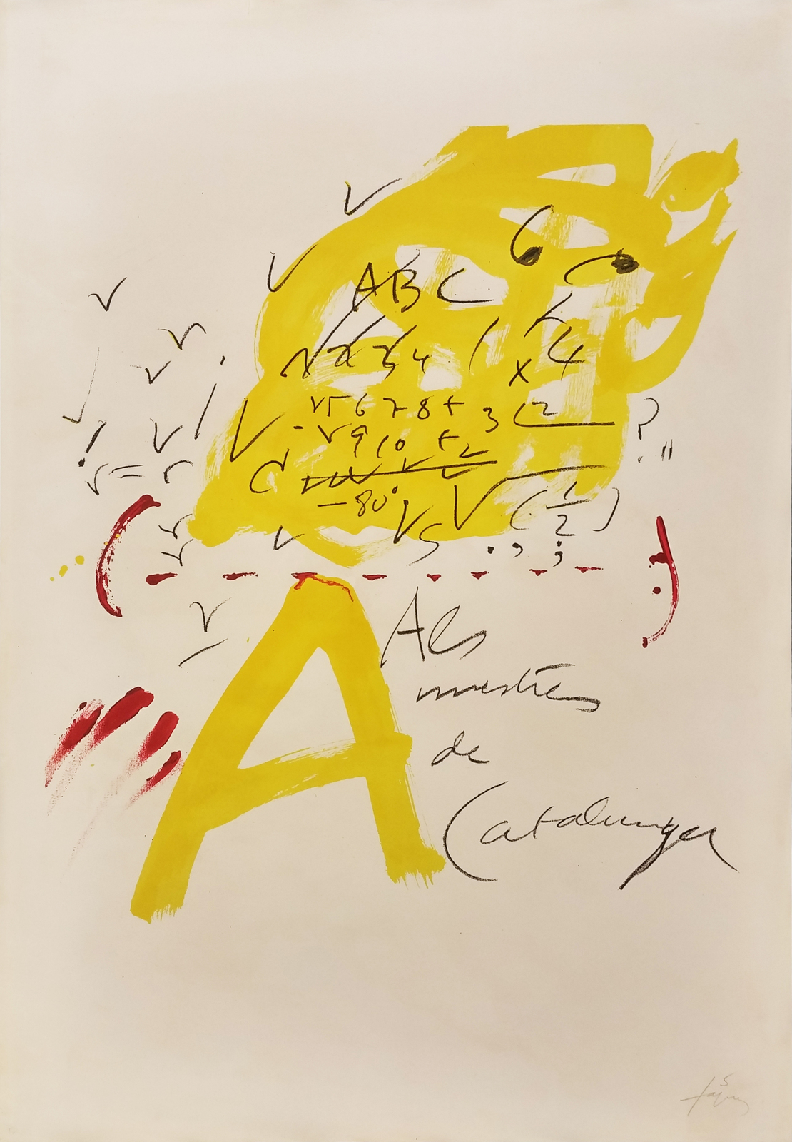 "Antoni Tapies ""Untitled"" 1974 - Signed Print - Abstract - See Live at GallArt"