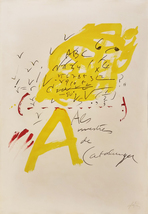 "Antoni Tapies ""Untitled"" 1974 - Signed Print - Abstract - See Live at Ga... - $1,500.00"
