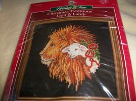 Christmas Traditions Lion & Lamb Cross Stitch Kit - $15.00