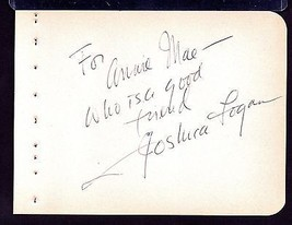 JOSHUA LOGAN Signed on autograph album page- director South Pacific,Mr. ... - $41.58