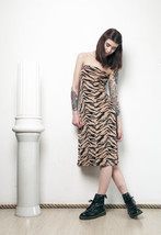 90s vintage tiger tube dress - $29.55