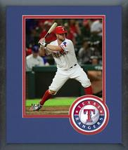 Bryan Holaday 2016 Texas Rangers - 11x14 Team Logo Matted/Framed Photo - $43.55