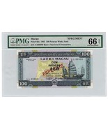 PMG GRADED MACAU RARE SPECIMEN NOTE 1992 50 PAT... - $1,840.00