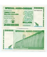 ZIMBABWE 2008 25 BILLION AGRO CHECK MONEY BANKN... - €3,08 EUR