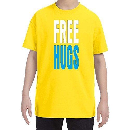Free hugs kids t shirt small yellow t shirts toys for baby for Yellow t shirt for kids