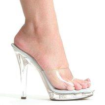 """Ellie Shoes E-M-Vanity, 5"""" Heel Clear Mule. 9 As Shown - $59.40"""
