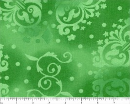 """Tone on Tone Novelty Design on Green -108"""" Wide-Choice Fabrics-BTY - $14.95"""