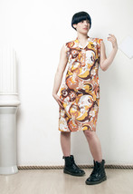 70s vintage baroque printed dress - $38.64