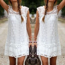 Womens #B Summer Sleeveless Lace Casual Evening Party Cocktail Short Min... - $7.80