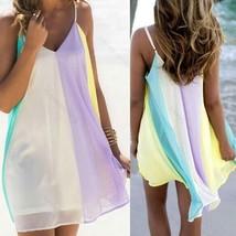 New Women Summer Casual #B Sleeveless Evening Party Beach Dress Short Mi... - $8.09+