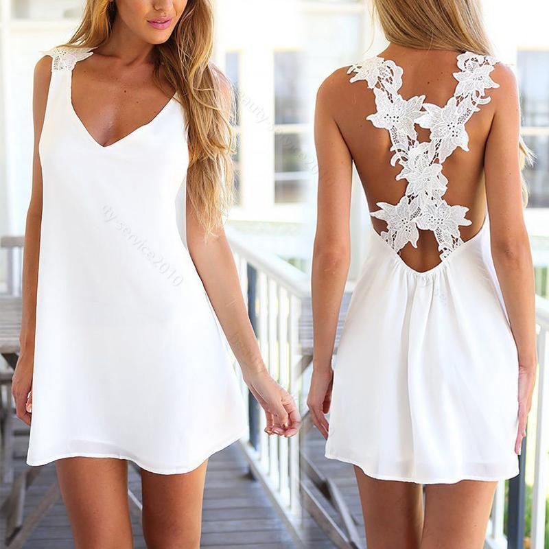 Sexy Womens Summer Casual #B Sleeveless Party Evening Cocktail Short Mini Dress