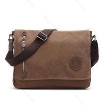 Men Vintage Canvas Messenger Shoulder Bag Crossbody Sling #B School Bags... - $433,35 MXN