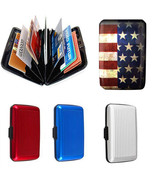 1x Aluma Button Wallet Credit Card Holder Aluminum Case Protect #B Rfid ... - $56,56 MXN+