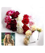 Hot Handmade  Floral Crown Rose Flower Headband Hair#B Garland Wedding H... - $41,53 MXN+