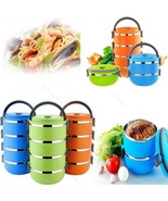 Thermal Insulated Bento Boxes Stainless Steel #B Lunch Box Picnic Food C... - $71,41 MXN+