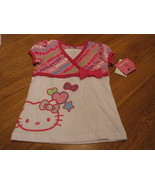 Girls Hello Kitty white & pink shirt 4  22.00 NWT youth TEE^^ - $25.96