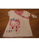 Girls Hello Kitty shirt white & pink 4  NWT 22.00  youth TEE ^^ - $20.76