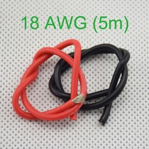 18 AWG (5m) Gauge Silicone Wire Flexible Stranded #B Copper Cables for R... - $2.58