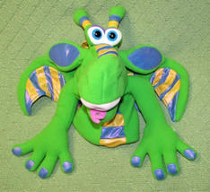 SMOULDER THE DRAGON HAND PUPPET MELISSA DOUG STUFFED ANIMAL PLUSH GREEN ... - $11.30