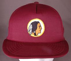 Vtg Washington Redskins Hat-Old Logo-Snap Back-Mesh-Maroon-Embroidered-N... - $46.74