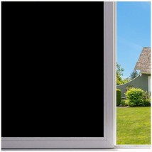 Velimax Static Cling Blackout Window Film Privacy Window Tint Black Stic... - $12.82
