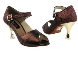Ladies Latin Rhythm Salsa Competitive Dancer CD3010 Copper & Copper Stardust ... - $79.95