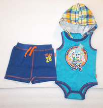 Disney Baby Infant Boys 2pc Bodysuit Hoodie Shorts Outfit 0-3M 3-6M and ... - $11.89