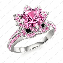 14k Gold Over 925 Silver Disney Princess Snow White Pink Stunning Wedding Ring - $78.99