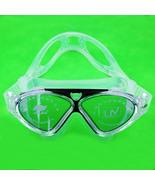 Professional Adult Swim Goggles Glasses Anti-fog UV Protection Black Adj... - $10.99