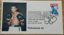 Muhammad Ali on a Sugar Ray Robinson First Day Issue 2006 Mint - $6.95
