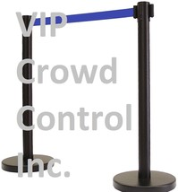 "RETRACTABLE STANCHION, 2PCS SET, 36"" TUFFTEX BLACK 78"" BLUE BELT - $84.15"