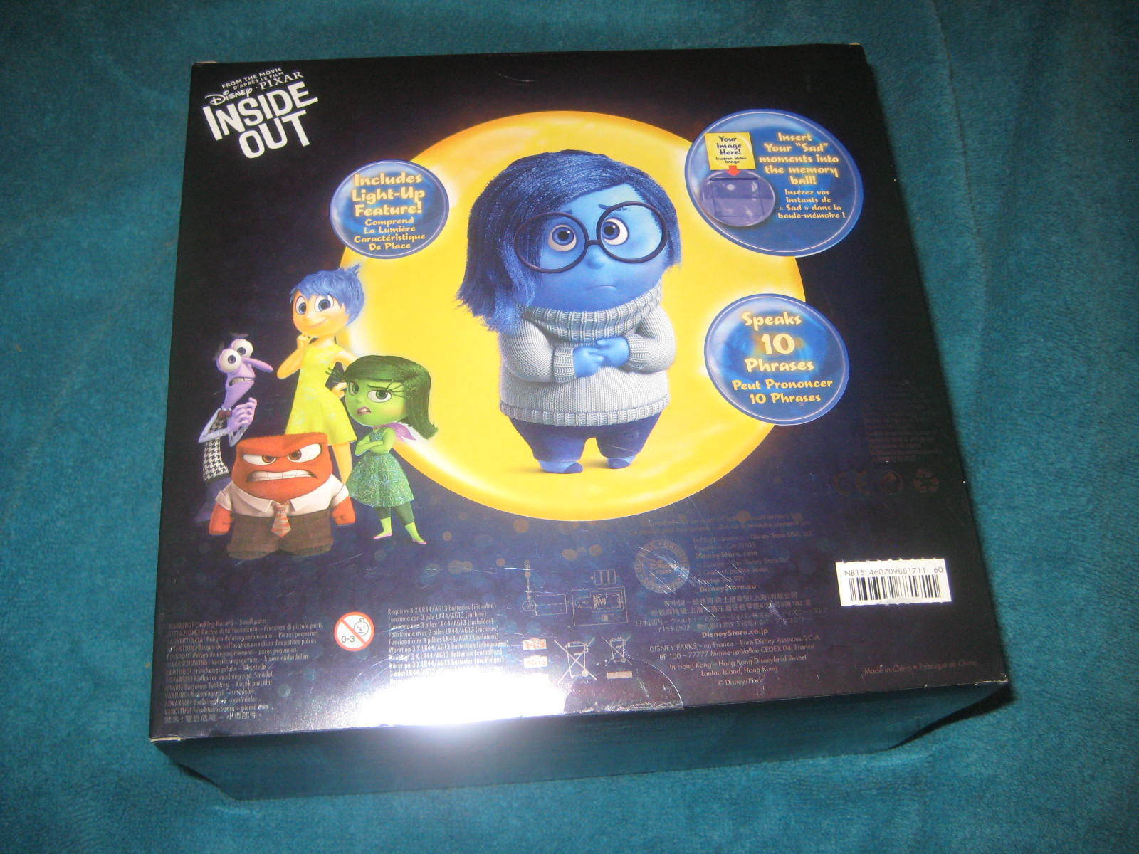 inside out deluxe talking sadness doll authentic disney store 7 5 new 1711 other. Black Bedroom Furniture Sets. Home Design Ideas