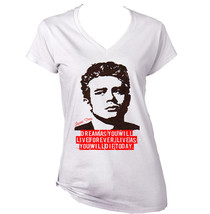 James D EAN   New White Cotton Lady Tshirt - $25.89