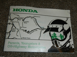 Honda Parents Youngsters And OFF-HIGHWAY Motorcycles Owner Owners Owner's Manual - $9.36