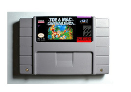 Joe & Mac Caveman Ninja SNES 16-Bit Game Reproduction Cartridge USA NTSC... - $24.99