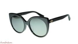 Gucci Women's Sunglasses GG0325SA 001 Black Silver Mirror Lens Designer ... - $202.73