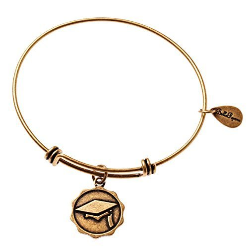Bella Ryann Graduation Cap Gold Charm Bangle Bracelet