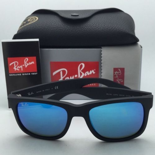 Ray-Ban Sunglasses JUSTIN RB 4165 622/55 51-16 Black Rubber Frame w ...