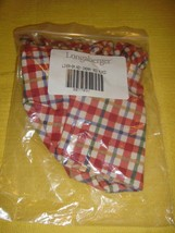 Longaberger Liner Cherry Red Plaid Small Key Liner - $14.79