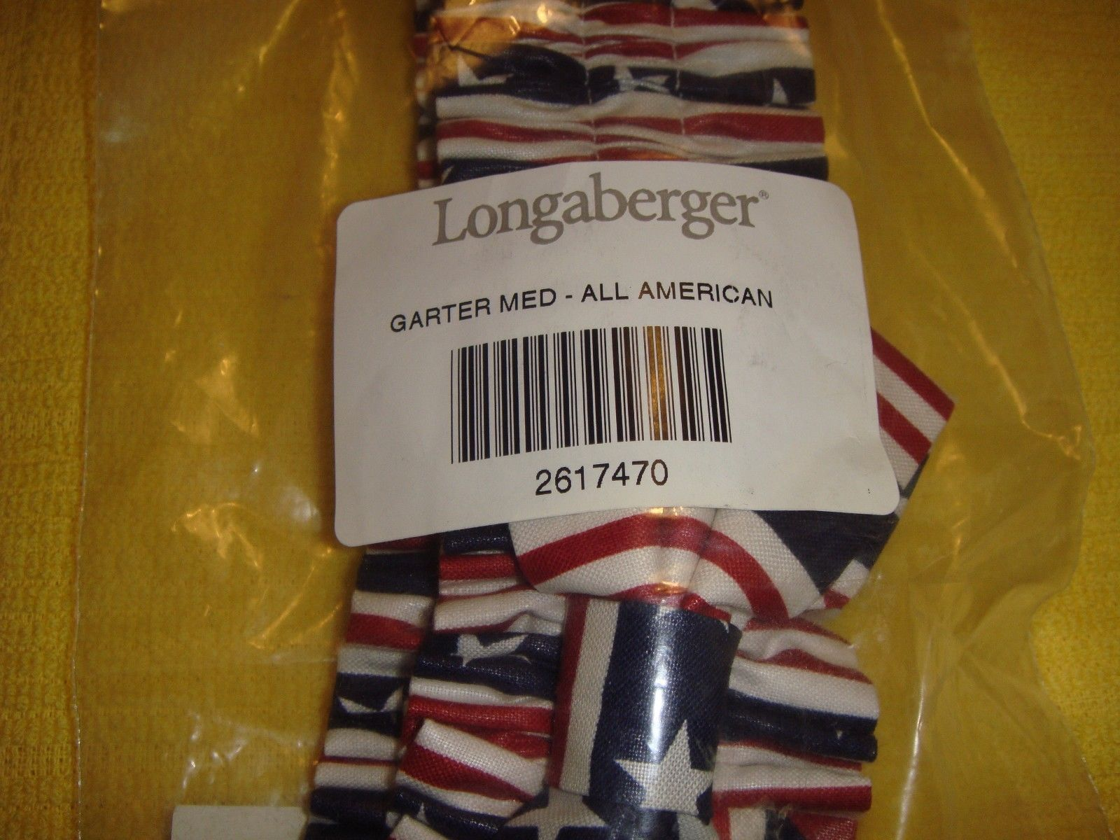 Longaberger Easter Egg Extra Small Bow Fabric Basket Garter Euc Usa