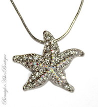 AB Beach Ocean Starfish Beach Resort Necklace Aurora Borealis Crystals - $5.97