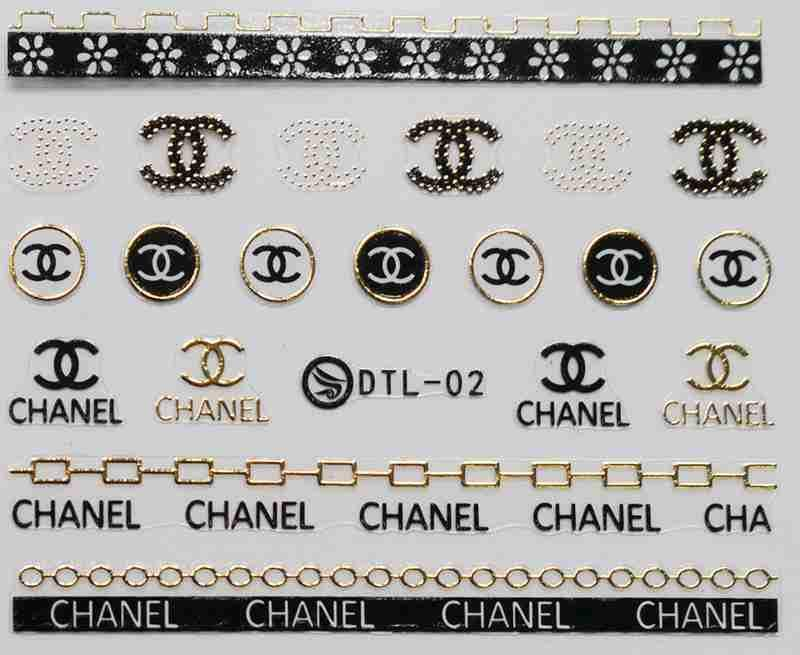 3 Sheet 12 Type Gold/Silver Nail Stickers Designs Gummed 3D Nail Art Stickers