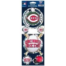 CINCINNATI REDS PRISMATIC HOLOGRAPH STICKER DECAL LABEL SHEET OF 5 MLB B... - $8.50