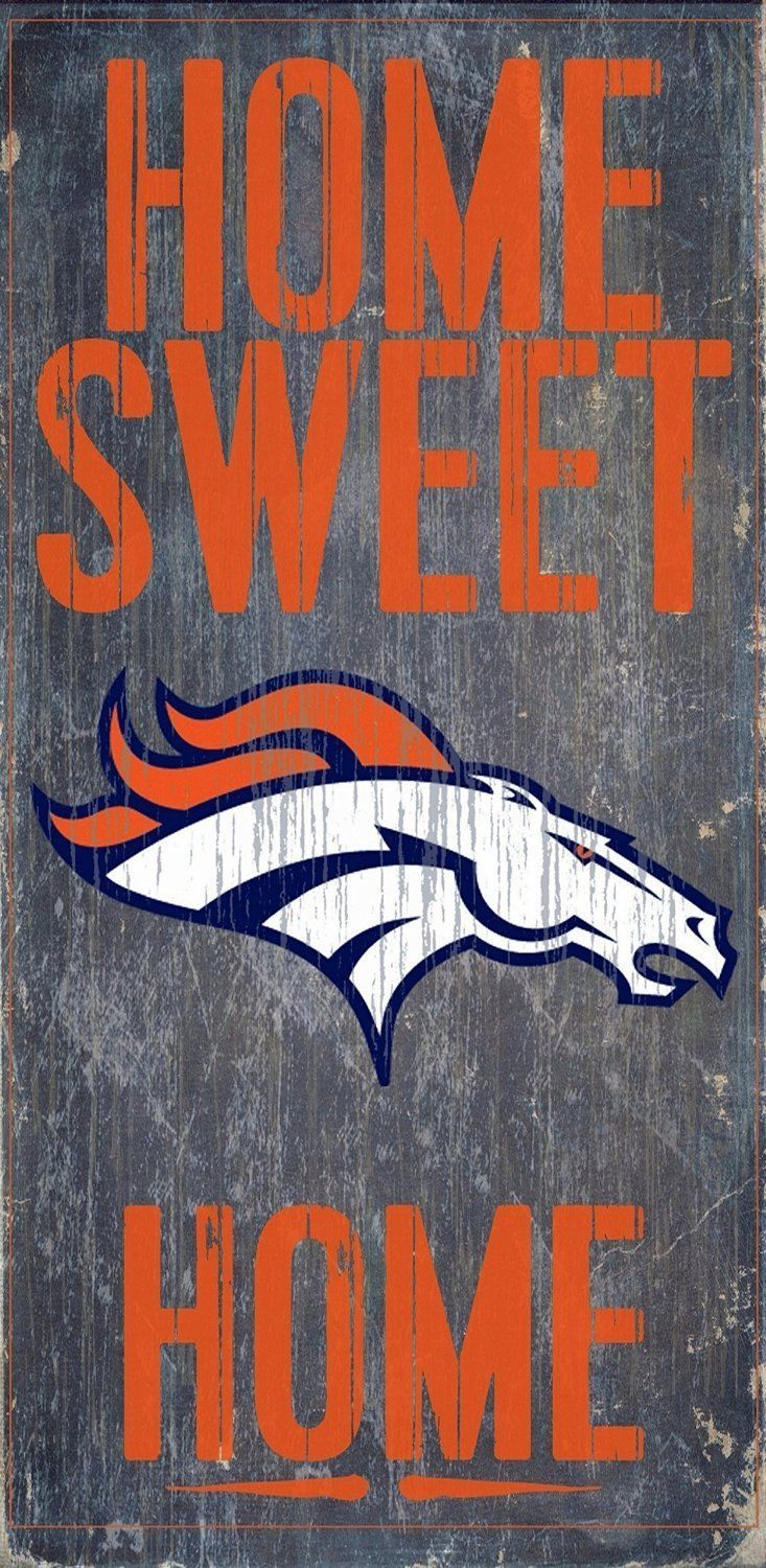 "DENVER BRONCOS HOME SWEET HOME WOOD SIGN and ROPE 12"" X 6""  NFL MAN CAVE!"