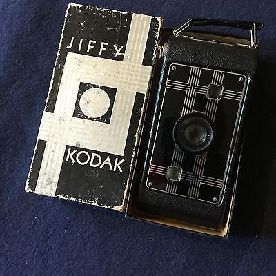 1930s Vintage Kodak Jiffy Six-16 First Series Folding Camera-Original Box